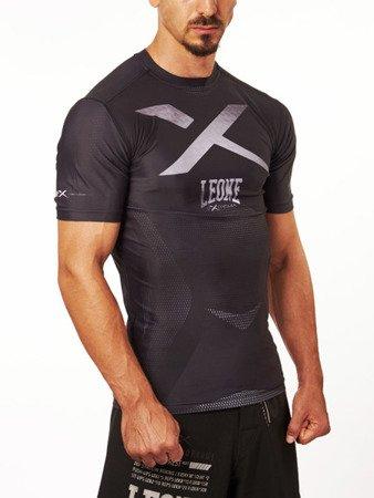 """Leone1947 techniczny tshirt """"X-Rashguard"""" szary rozmiar S [ABX14]"""