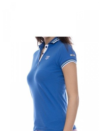 LEONE Polo T-shirt damski błękitny XS [LW1814]