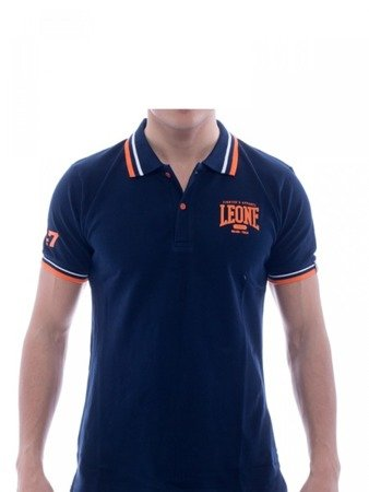 LEONE Polo T-shirt granatowy M [LSM1725]