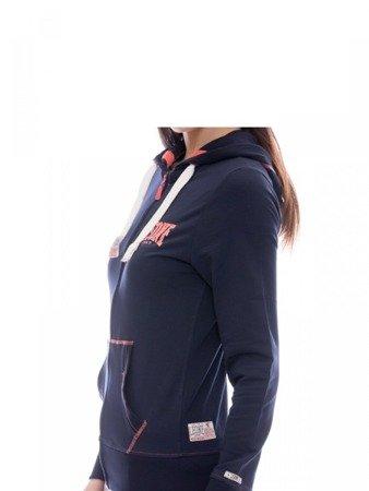 LEONE damska bluza na zamek z kapturem grantowy S [LW1750]