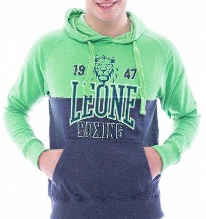 Leone - Bluza z kapturem (zielony/granat)