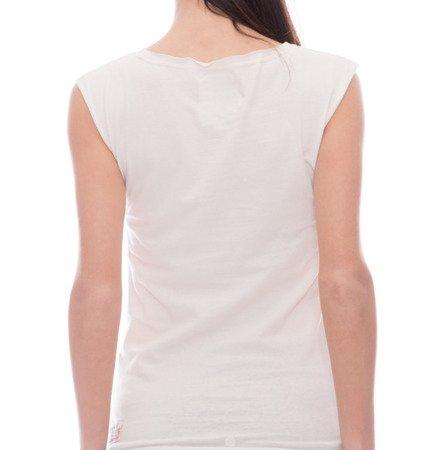 damski t-shirt bez rękawów biały